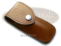 Boker Tree Brand 2002 Brown Leather Belt Sheath for Pocket Knives 090037
