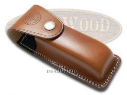 Boker Tree Brand Brown Leather Belt Sheath for Optima Knife 090046