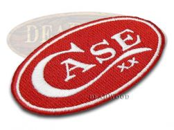 Case xx Knives Red Oval Logo Embossed Patch 1031