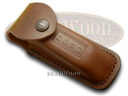 Case xx Brown Leather Hobo Pocket Knife Knives Belt Sheath 1049
