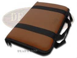 Case xx Large Brown Leather & Cotton Knife Carrying Case for Pocket Knives 1079
