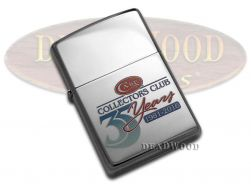 Case xx Collectors Club 35th Anniversary Chrome Zippo Windproof Lighter 27601