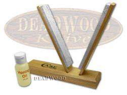 Case xx Soft Arkansas Stone & Honing Oil V-Sharpening Kit for PocketKnives 50153