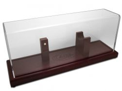 Case xx Magnetic Mount Cherry Wood & Plexiglass Kodiak Knife Display 50155
