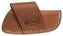 Case xx Large Brown Leather Side Draw Pocket Knife Belt Sheath 50232