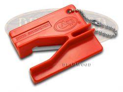 Case xx Knives Red Ceramic Rod Pocket Knife Sharpener 52451