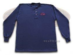 Case xx Navy Blue Long Sleeve Large T-Shirt Henley Cotton Jersey 52457