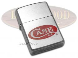 Case xx Red Logo Satin Chrome Zippo Windproof Lighter 52470