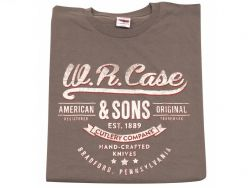Case xx Premium 100% Cotton Medium Charcoal T-shirt 52481