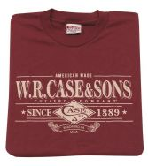 Case xx Premium 100% Cotton Small Maroon T-shirt 52486