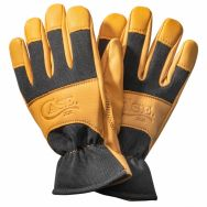 Case xx Logo Work Gloves Medium Premium Goatskin Leather & Black Spandex 52537