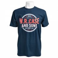 Case xx Navy Blue Twice Tested Never Bested Medium Cotton T-Shirt 52549