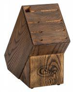 Case xx Kitchen 8-Knife Block Stained Walnut Wood 07386