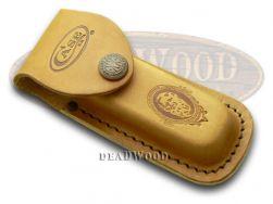 Case xx Medium Brown Leather Job Case Belt Sheath for Pocket Knives 9026