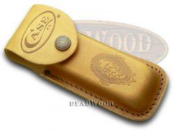 Case xx Large Brown Leather Job Case Belt Sheath for Pocket Knives 9027