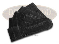 Case xx 5-Pack Medium Black Suede Leather Pouches for Pocket Knives 9067