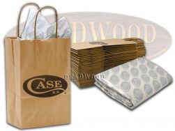 Case xx Logo Print Small Gift Bag & Paper 25pcs for Knives 9105