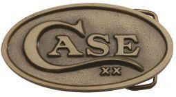 Case xx Brass Finish Oval Belt Buckle 934