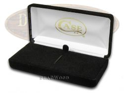 Case xx Black Velvet Hinged Hard Box for Pocket Knife Knives