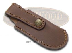 Hen & Rooster Small Brown Leather Belt Sheath for Pocket Knives