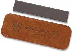 Spyderco Pocket Stone Medium Grit Brown Ceramic Lightweight Knife Sharpener 303M