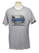 Spyderco T-Shirt Bread Truck Size Large Heather Grey Cotton Blend TSBTL