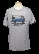 Spyderco T-Shirt Bread Truck Size Medium Heather Grey Cotton Blend TSBTM