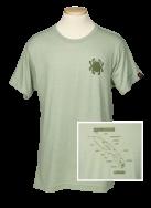 Spyderco T-Shirt Knife Anatomy Size Medium Heather Green Cotton Blend TSKAM