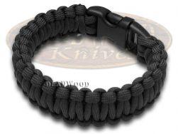 """Wilson Tac Black Paracord 9"""" Nine Inch Survival Bracelet WI9JG203"""
