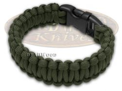 """Wilson Tac Olive Drab Paracord 9"""" Nine Inch Survival Bracelet WI9JG233"""