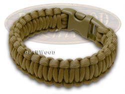 "Wilson Tac Coyote Paracord 9"" Nine Inch Survival Bracelet WI9JG243"