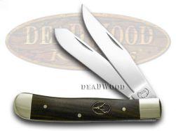 Buck Creek Smooth Ebony Wood Trapper Pocket Knife 254EB Knives