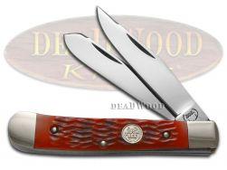 Buck Creek Trapper Knife Red Pickbone Stainless German Pocket Knives BC-254 RPB