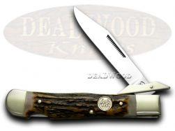 Buck Creek Genuine Deer Stag Cheetah Pocket Knife 6111DS Knives
