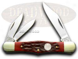 Buck Creek Red Pickbone Whittler Pocket Knife 6308RPB Knives