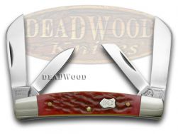 Buck Creek Red Picked Bone 4 Blade Congress Pocket Knife 664RPB Knives