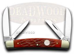 Buck Creek Red Pickbone Congress Pocket Knife 6682RPB Knives