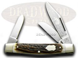 Bulldog 25th Anv Stockman Stag Pocket Knife 11661 Knives