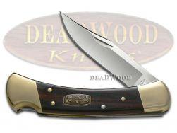Buck 110 Folding Hunter Knife Diamond Wood 50th Anniversary Stainless 50-BRS-B