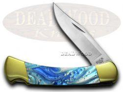 Buck 110 Folding Hunter Knife Blue Luster Corelon 420HC Stainless Pocket Knives