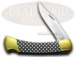 Buck 110 Folding Hunter Knife Basketweave Black Pearl Corelon 1/400 Stainless