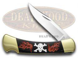 Buck 110 Folding Hunter Knife Skull & Crossbones Black Pearl Corelon 1/400