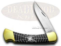 Buck 110 Folding Hunter Knife Black Widow Black Pearl Corelon 1/400 Stainless