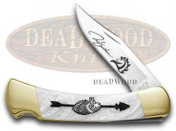 Buck 110 Yellowhorse Folding Hunter Knife Chief Arrowhead White Pearl 1/100