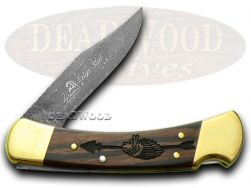 Buck 110 Yellowhorse Hunter Knife Chief Arrowhead Ebony Wood 1/400 Native Steel
