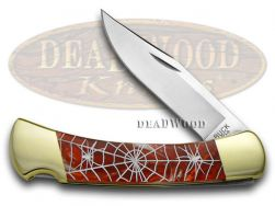 Buck 110 Folding Hunter Knife Recluse Fire Feathers Corelon 1/400 Stainless