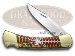 Buck 110 Folding Hunter Knife Spider Web Fire Mist Green Corelon 1/400 420HC