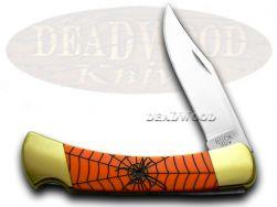 Buck 110 Folding Hunter Knife Custom Black Widow Orange Pearl Corelon 1/400