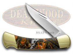 Buck 110 Folding Hunter Knife Pumpkin Seed Corelon 420HC Stainless Pocket