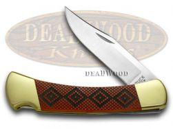 Buck 110 Folding Hunter Knife Diamondback Red Pearl Corelon 1/400 Stainless